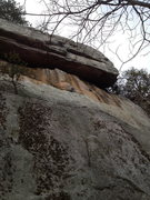 Rock Climbing Photo: Look for the whitish-yellow hue.