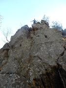 Rock Climbing Photo: Fortress Wall  Direct(5.9+X)trad  Crowders Mountai...