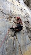 Rock Climbing Photo: One way of entering the lower crux on White Flower...