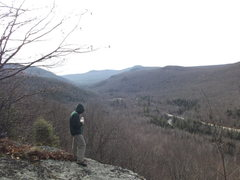 Rock Climbing Photo: Looking south down Rt16 from the top of the Upper ...