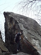 Rock Climbing Photo: The move getting on the arete