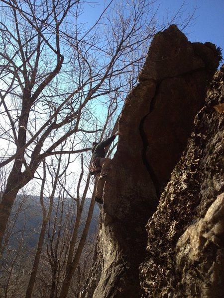 Rock Climbing Photo: James Dickson on the fa.