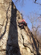 Rock Climbing Photo: Lay back section. you can climb it strait on or la...