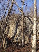 Rock Climbing Photo: Lauren half way up