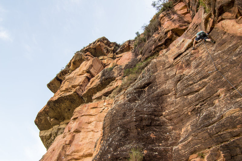Rock Climbing Photo: Heading up Aracnoides