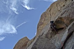Rock Climbing Photo: Todd Bradley at the crux of this exciting 5.5.