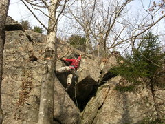 Rock Climbing Photo: The crux dihedral.