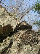 Rock Climbing Photo: Above the chimney slot.