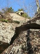 Rock Climbing Photo: The upper slabs.