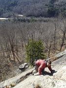 Rock Climbing Photo: Jim nearing the top