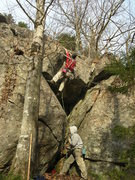 Rock Climbing Photo: This climb is taller than it looks...