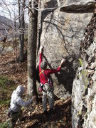 Rock Climbing Photo: The bouldery start