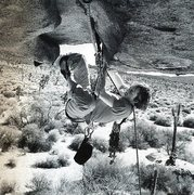 Rock Climbing Photo: Todd Skinner on More Monkey than Funky (5.11b), Jo...