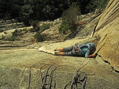 Rock Climbing Photo:  I belly-flopped onto Sail flake! Couldn't mantle,...