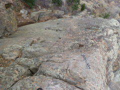 Rock Climbing Photo: Looking down the face from above.