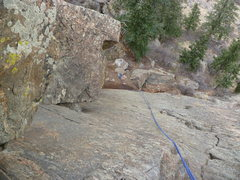 Rock Climbing Photo: The top of the dihedral.