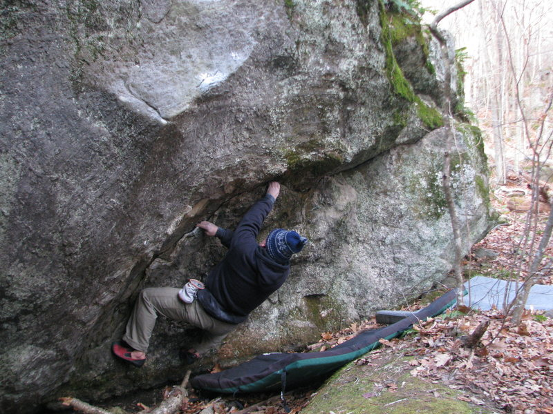 Rock Climbing Photo: Powder Monkey traverse -  The holds are mostly cle...