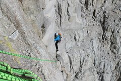 Rock Climbing Photo: Fresh air traverse on East Face Whitney.