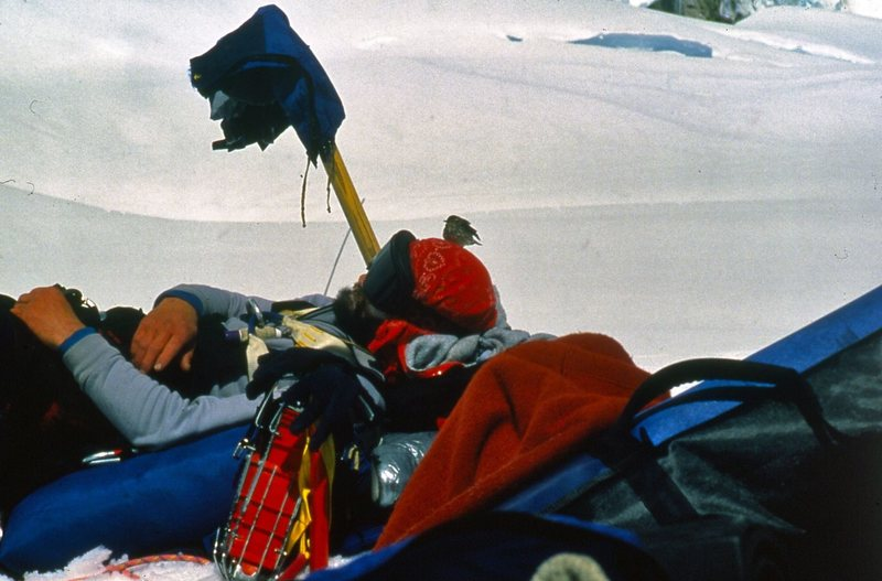 Rock Climbing Photo: Two mountain travelers taking a break... at ease o...