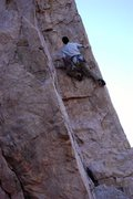 Rock Climbing Photo: Beginning the crux sequence of Jazz the Glass
