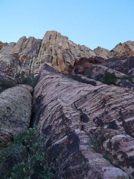 Rock Climbing Photo: the final rib (the hand crack is on the far right ...