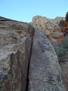 Rock Climbing Photo: the hand crack (lichen didn't interfere with the f...