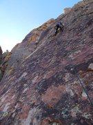 Rock Climbing Photo: Brian starting up P4