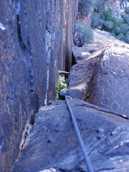 Rock Climbing Photo: the advantage of breaking up P2, seeing your partn...