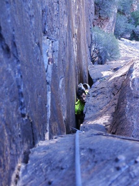 Rock Climbing Photo: and the helmet comes off
