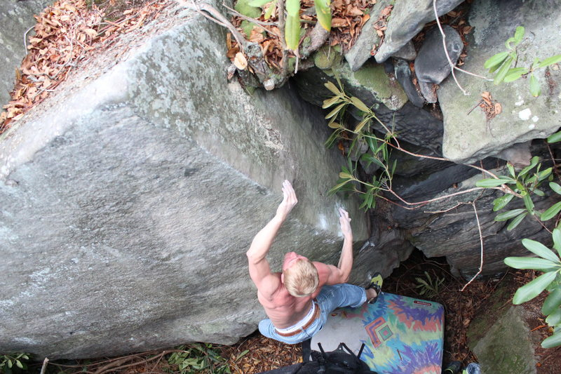Rock Climbing Photo: Mike's Sendwich v6, a new climb that was hidden in...