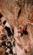 Rock Climbing Photo: Scott Cosgrove on the FA of Sun Bowl (5.13a), Josh...