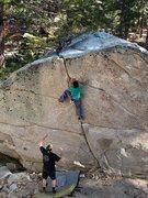 Rock Climbing Photo: Center Crack (V0), Tramway