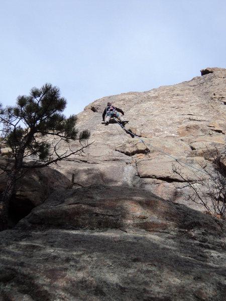 Rock Climbing Photo: Jay goes ground up.