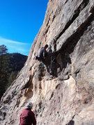 Rock Climbing Photo: Jay rocks on.