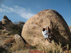 Rock Climbing Photo: Bryan on Throw Up Left (V4), Culp Valley