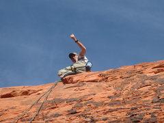 Rock Climbing Photo: andrew top of Interproximal Stripper
