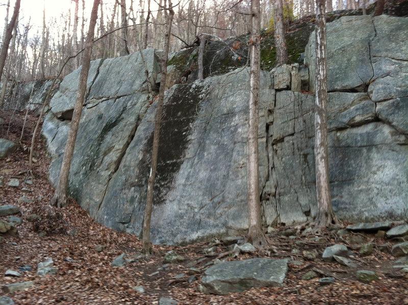 Left lower cliff