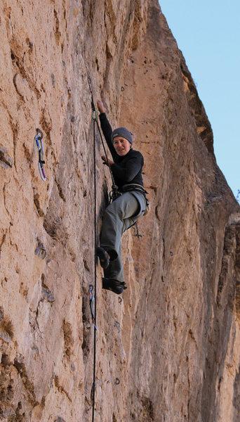 Rock Climbing Photo: Gabriela ticks off another .11 Shakka (5.11)