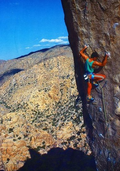 Randy Leavitt on The Powers That Be (5.13a), Joshua Tree NP<br> <br> Photo by Brian Bailey (http://www.brianbaileyphotography.com/)