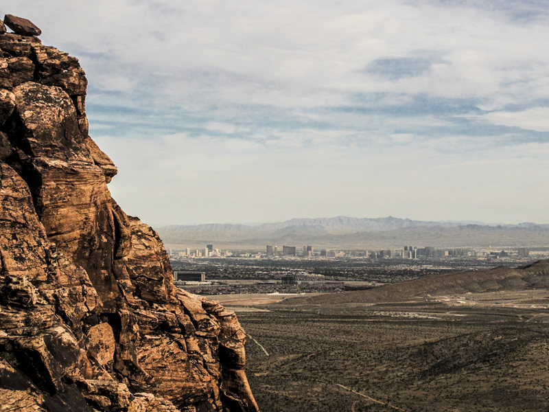 The view of Las Vegas from Kraft Mt.