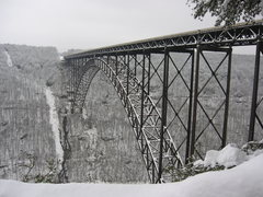 Rock Climbing Photo: The New River Gorge Bridge in winter. 3' of snow.