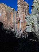 Rock Climbing Photo: Ty on Bullet The Blue Sky.