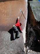 Rock Climbing Photo: Ty with some interesting moves down low on Bullet ...