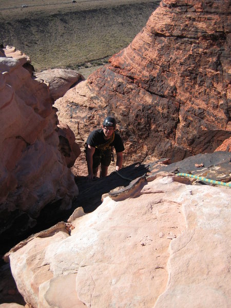 Rock Climbing Photo: Top of Pitch 3, Chips and Salsa