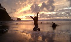 Rock Climbing Photo: on the oregon coast.