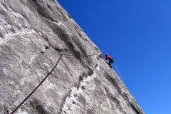 Rock Climbing Photo: Bryan Haslam leading pitch 2