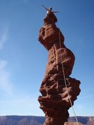 Rock Climbing Photo: Stolen Chimney, Ancient Art in the Fisher Towers