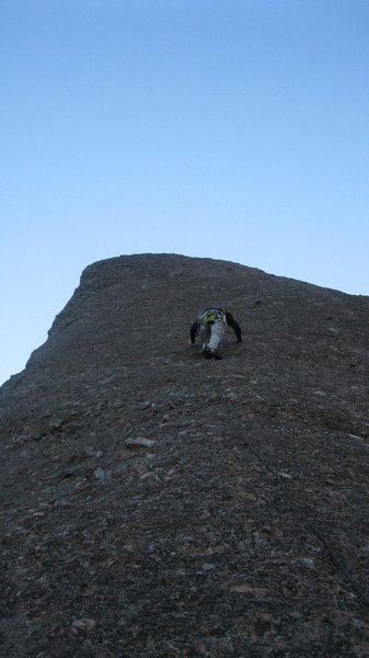Rock Climbing Photo: Butt shot of a smooth 5.5.