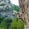 Alex climbing on Mt. Gorgeous