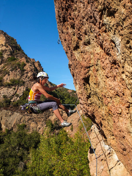 Rock Climbing Photo: Taking a fall at the crux